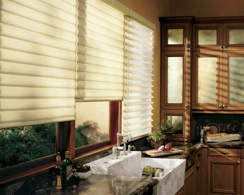 silhouette shades are both sheer u0026 privatenice combo kitchen window