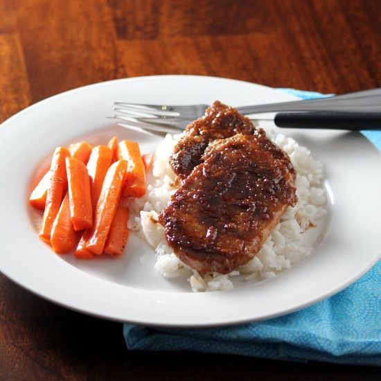 From Kitchen Trial and Error, Asian pork chops adapted from The Keenan Cookbook.