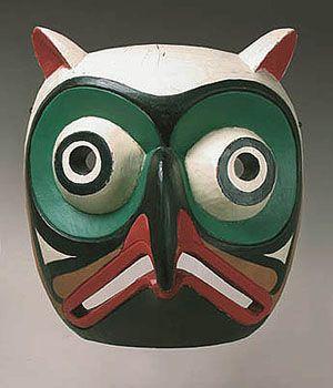 Native American Mask - Owl Mask from Northwest Coast