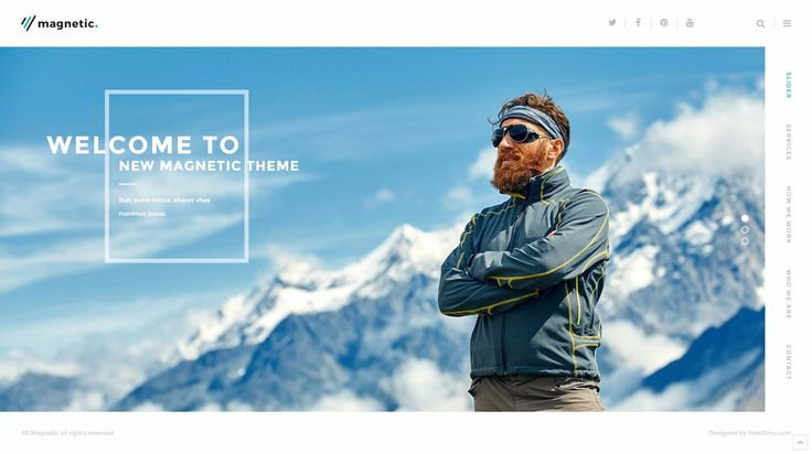 PE Magnetic  - Multipurpose business WordPress theme with an awesome compact design for homepage.  #Multipurpose #business #WordPress #theme https://www.pixelemu.com/wordpress-themes/i/234-magnetic