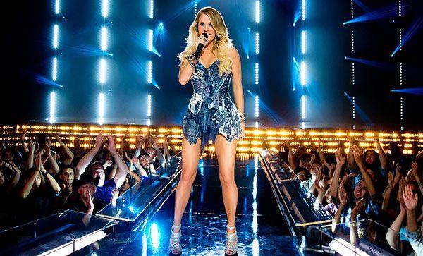 Carrie Underwood shoots 'Sunday Night Football' video