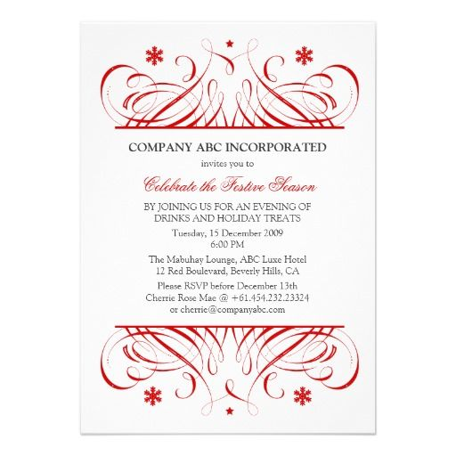 9 best Corporate invitations \ menus images on Pinterest - Formal Business Invitation