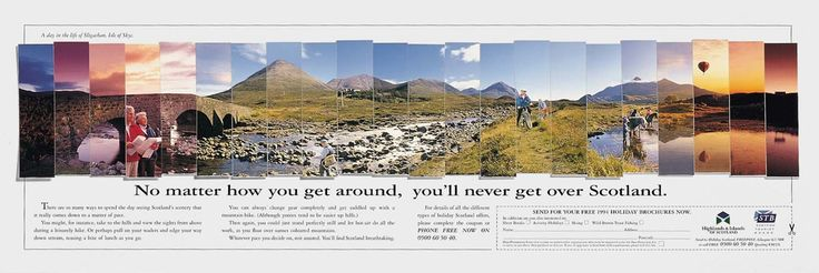 Read more: https://www.luerzersarchive.com/en/magazine/print-detail/scottish-tourist-board-7474.html Scottish Tourist Board Tags: Faulds Advertising Ltd, Edinburgh,Brian Mcgregor,Craig Jackson,Paul Tomkins,Scottish Tourist Board