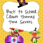 This set includes handy back to school forms, group sorted name tags, bus tags, group signs, a group organizing form and more back to school goodie...