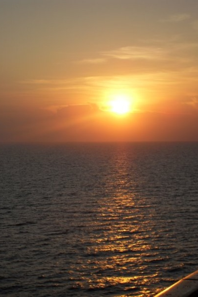 Sunset from balcony on cruise
