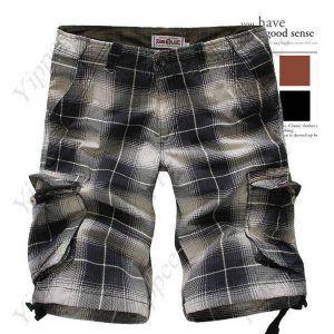 Cotton Pockets Checks Half pants for Boy Men  $26.95
