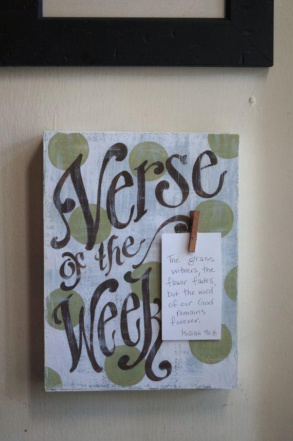 verse of the week board - Google Search
