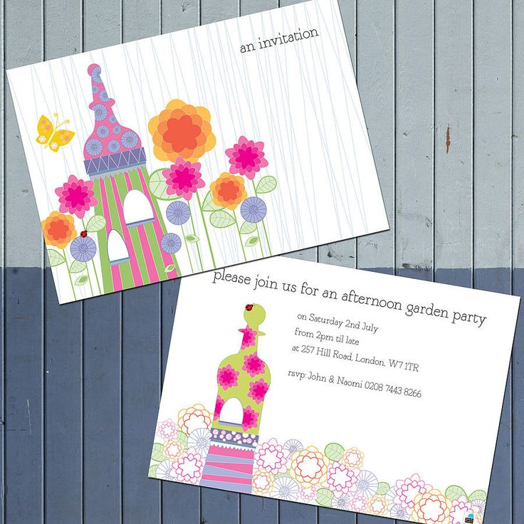 pack of ten personalised pavilion invites by little bulldog design | notonthehighstreet.com