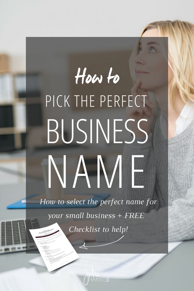 how to pick the perfect business name - Graphic Design Business Name Ideas