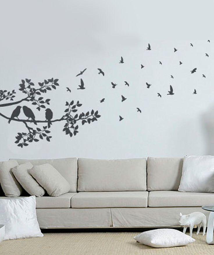 Rama y Pájaros Volando - Vinilo Adhesivo, decoración de paredes. $69.900 COP. Encuentra más vinilos adhesivos en www.giferent.com/vinilos-decorativos-adhesivos