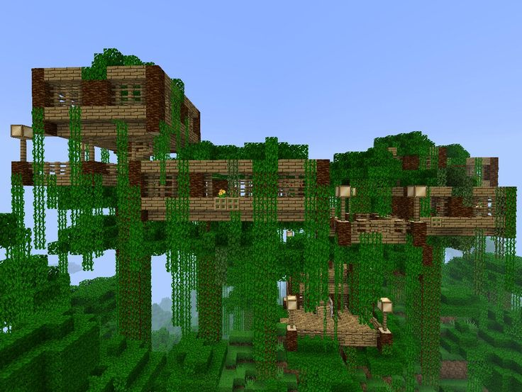 Minecraft Japanese Tree jungle tree house | minecraft creations | pinterest | jungle tree