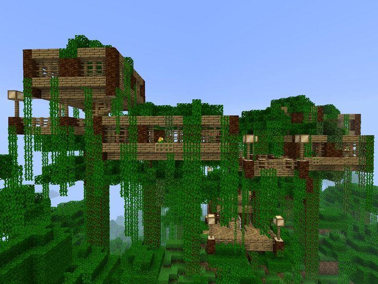 Jungle Tree House Minecraft Creations Pinterest Jungle Tree