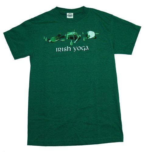 St. Patrick`s Day Irish Yoga Green Tee T-Shirt