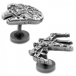 Millennium Falcon and X-Wing Cufflinks