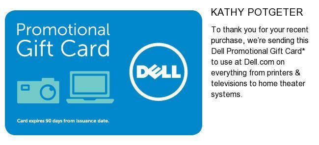 $125 Dell Gift Card Promotional eGift Card Online or By Phone Use ...