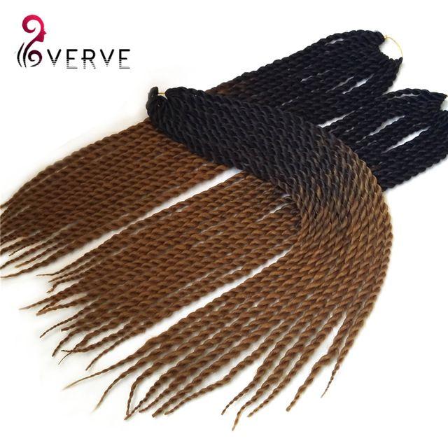 "Havana Mambo Twist Crochet Braid Hair 22"" 120grams/pcs Synthetic Ombre Kanekalon Braiding Hair Extension ombre jumbo braid hair"