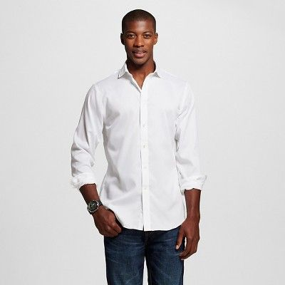Men's Slim Fit Premium Non-Iron Dress Shirt White - City of London 15 / 34-35, Dove White