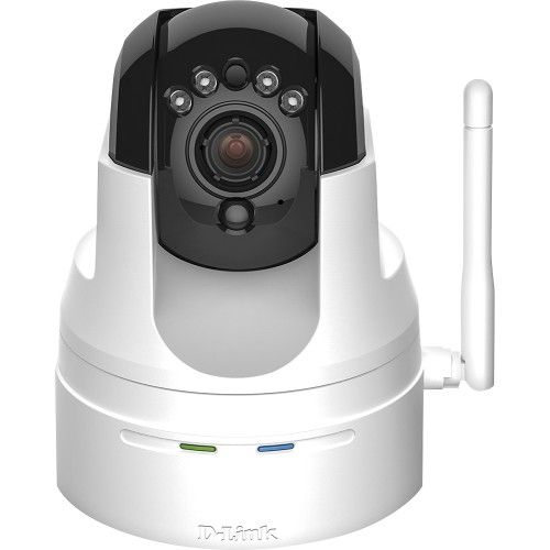 "Keep an eye on your home or office with this D-Link Cloud Camera wireless surveillance camera that features a 1/4"" progressive CMOS image sensor with 720p resolution for sharp, clear video and IR LEDs for effective night vision up to 26.2'."