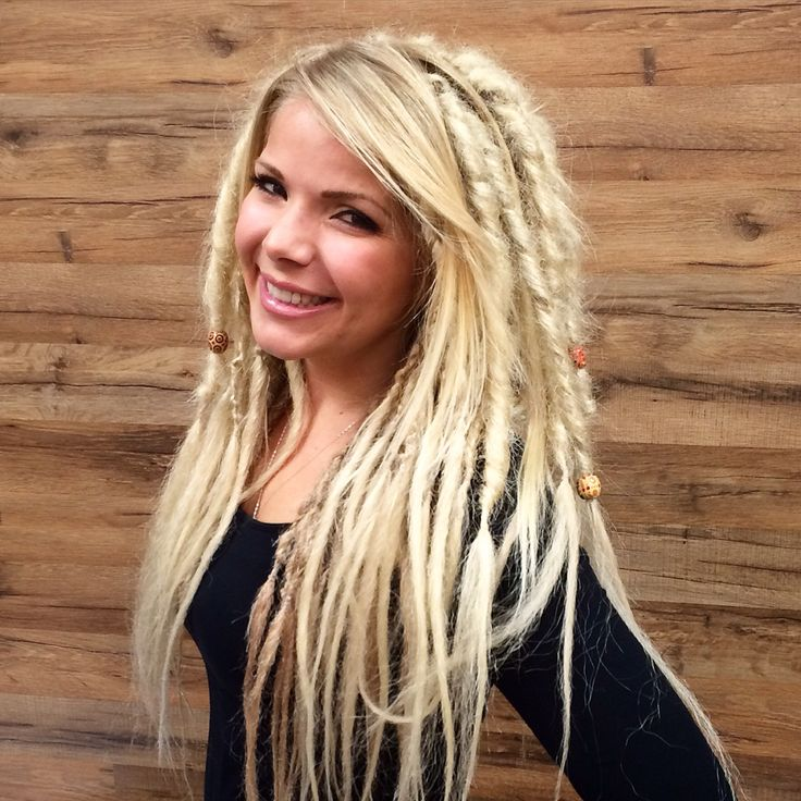 Blonde dread extensions by Kristine Norris @ Sola Salons Costa Mesa Click the picture for more work by hairstylist Kristine Norris or to book an appointment !