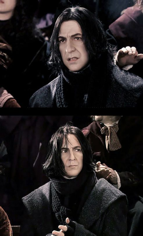 """2001 - Alan Rickman as Professor Severus Snape in """"Harry Potter and the Sorcerer's Stone."""" This is from Harry's first Quidditch match."""
