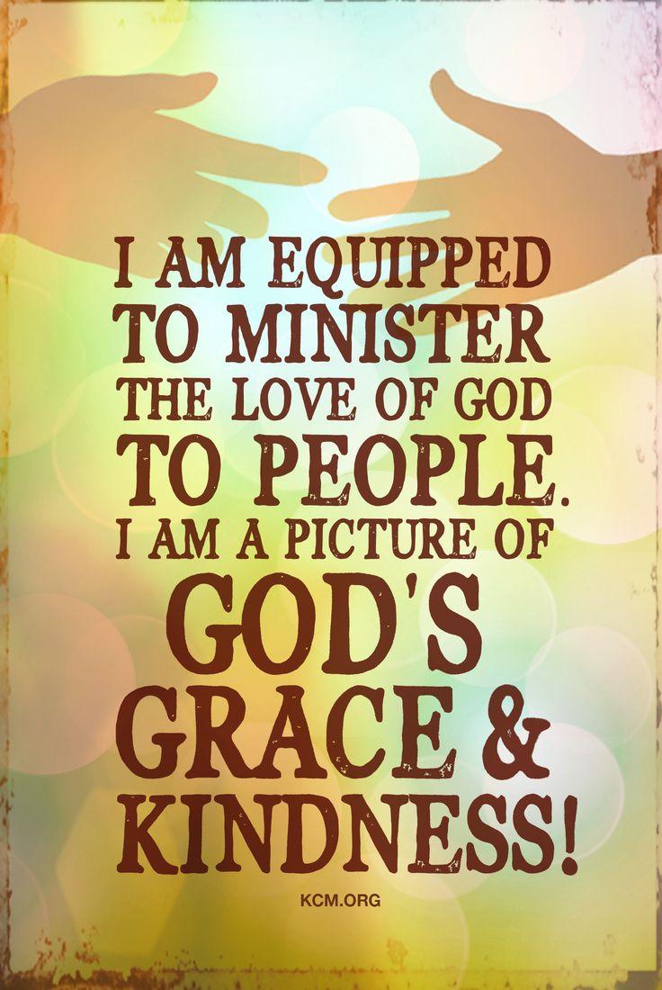 I am a vessel of God s grace and kindness KCM inspiration grace