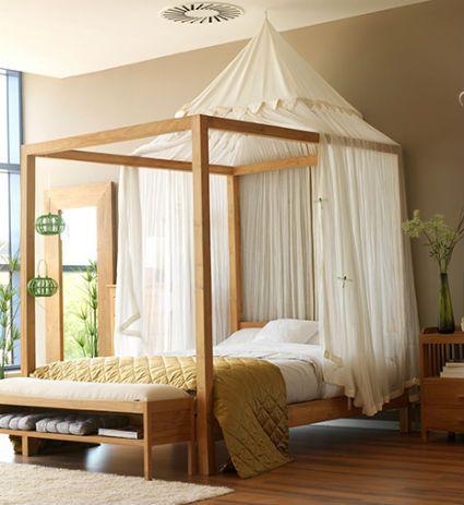 Las 25 mejores ideas sobre cortinas de cama con dosel en - Cama con dosel ...