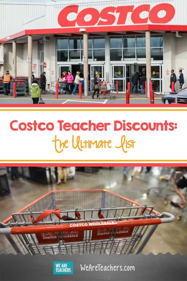 Costco Teacher Discounts The Ultimate List All Of The Costco Teacher Discounts And The Best Ways For Teache Teacher Discounts Teacher Savings Teacher Lunches