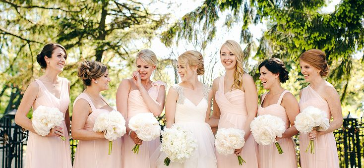 Sarah & her girls | Sarah's beautiful bridesmaids are wearing Amsale Bridesmaids in Opal available at Pearl Bridal House | Photography by Christine Lim Photography