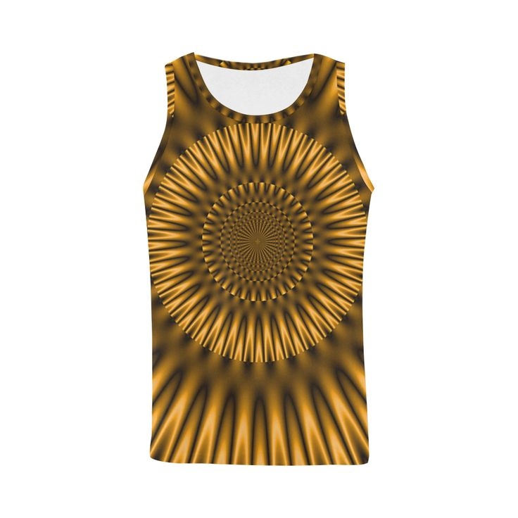 Golden Lagoon All Over Print Tank Top for Men (Model T43)