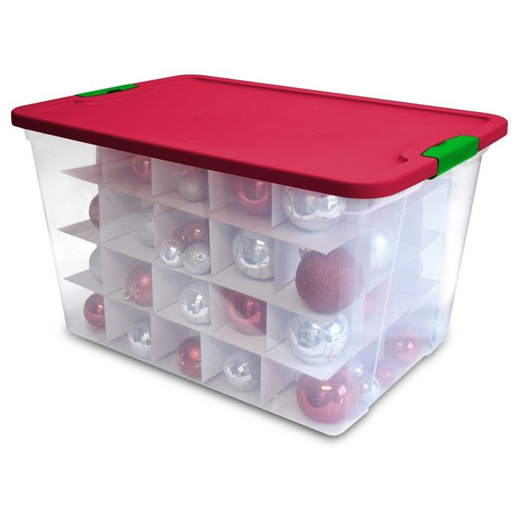 Homz - Utility Storage Tubs And Totes - Red