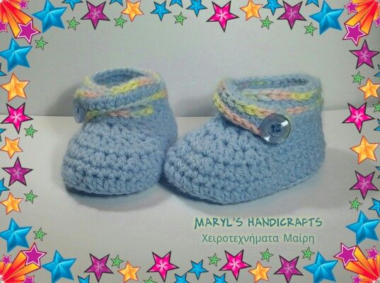 Baby crochet shoes. Find it on Facebook : MaryL's Handicrafts
