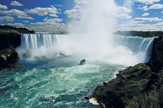 my parents took me to niagara falls as a young girl and i was mesmerized. i remember the museums with contraptions people tried to go over the falls with - most did not survive. http://www.janetcampbell.ca/