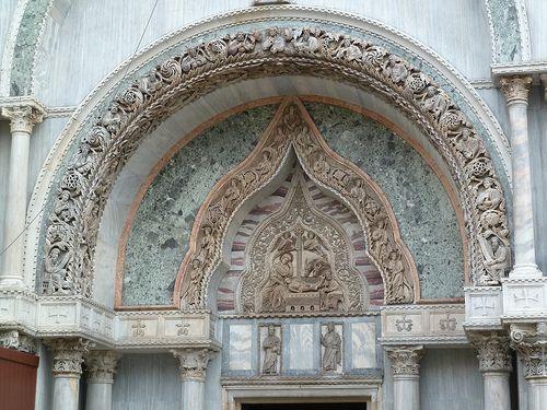 Nativity in the tympanum,Venice