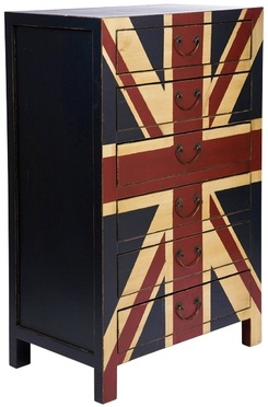 Cajonera Union Jack vintage / Vintage Union Jack chest of drawers