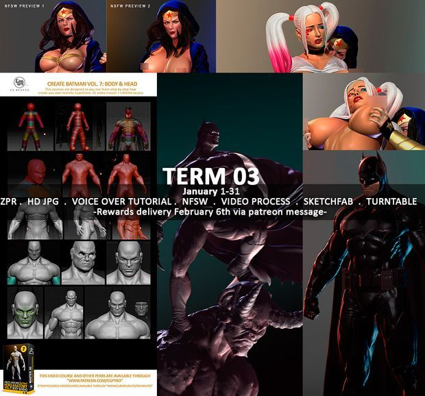 Term 03 Newsletter Thank you for your support for the Term 03 from January 1 to 31! (Rewards will be sent via Mediafire links, Cubebrush links and Patreon messages on February 6), Mediafire links should be downloaded before the end of the month.  https://blog.cgmakers.com/blog/term-03-newsletter/