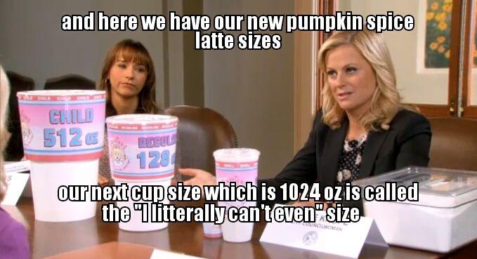 Image result for pumpkin spice latte basic meme
