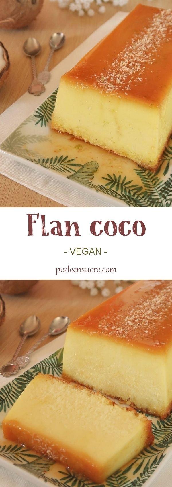 Flan coco (ou flan Antillais) sans oeufs {vegan