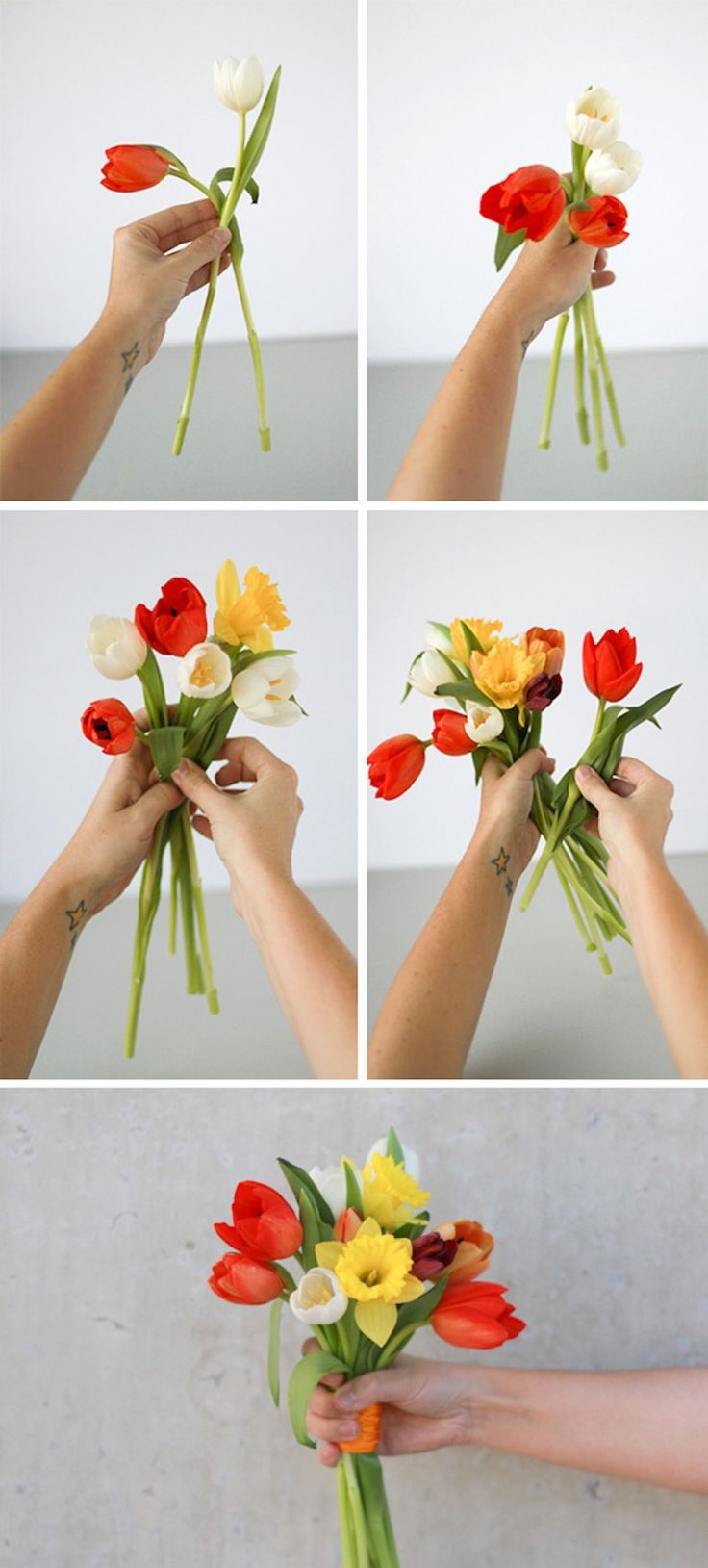 How to make a spring bouquet - the easy way - Paper & Stitch Diy Bouquet, Spring Bouquet, Wonderful Flowers, Clay Projects, Cactus Plants, Diy Tutorial, House Plants, Wedding Flowers, Home And Garden