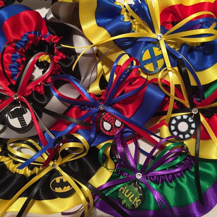Superhero garters on their way to Laura's bridesmaids for her upcoming wedding!