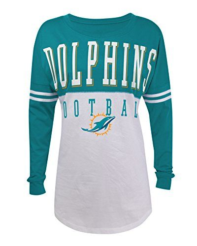 NFL Miami Dolphins Women's 4950L Long Sleeve Baby Jersey, White, Medium 5th & Ocean http://www.amazon.com/dp/B010NTTEAE/ref=cm_sw_r_pi_dp_5857vb1CQ3WVG