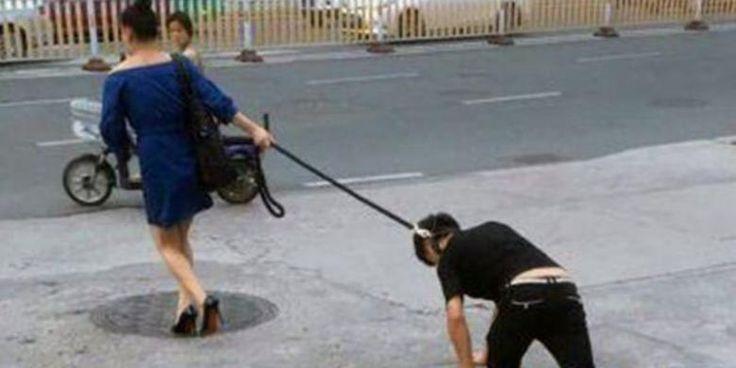 Sungguh Kejam Perempuan Ini, Seret Kekasihnya sendiri Layaknya Seekor Anjing Peliharaan