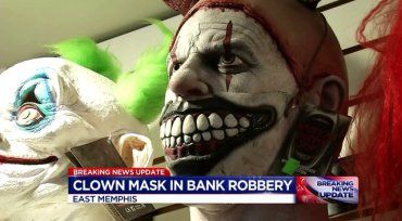 Police are searching for a masked man who robbed a Whitehaven credit union Wednesday in a Santa Claus mask.