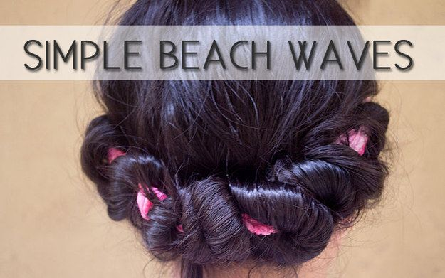 how to make beach curls