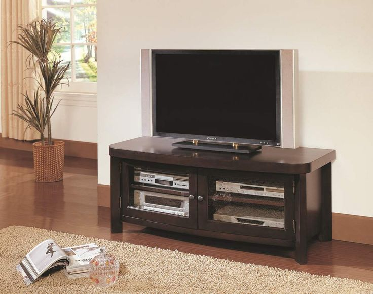 Brussel Espresso Tv Stand, Wood Panel