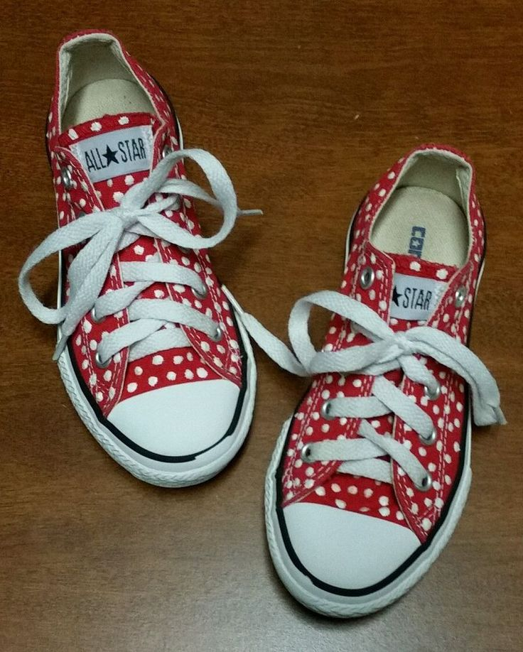 Allstar Converse Tennis Shoes Girls Sz.12 Red White Polka Dot NEW in Clothing, Shoes & Accessories, Kids' Clothing, Shoes & Accs, Girls' Shoes | eBay