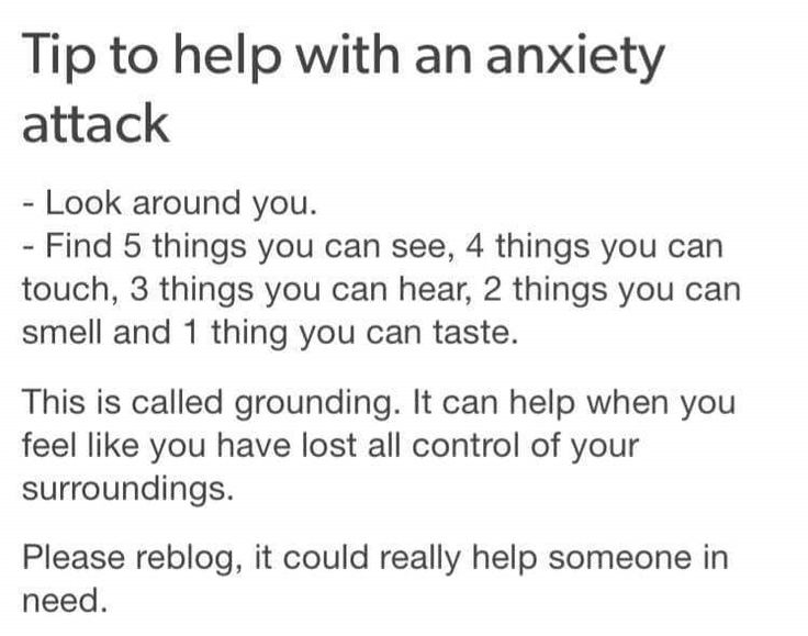 Guys this really helps I had an hour long anxiety attack yesterday and I had to do this a few times but it helps I swear