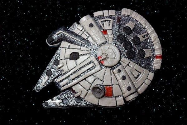 The Millennium Falcon Cake! I made this using the Lakeland Mould.