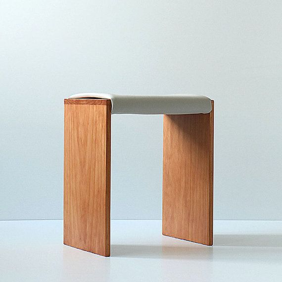 Piano Stool - Mid Century Modern Stools - Modern Chairs - Vinyl Stools - Wooden…