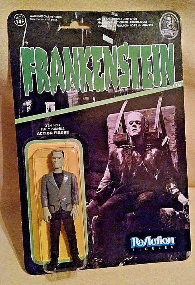 Frankenstein Action Figure Funko X Super 7 Reaction New Ser 1 Nv057 Monster Super7
