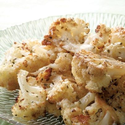 Balsamic and Parmesan Roasted Cauliflower
